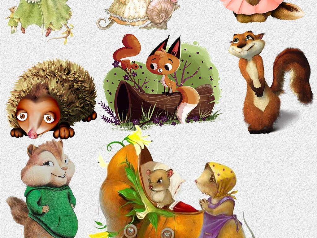 插画创意森林动物