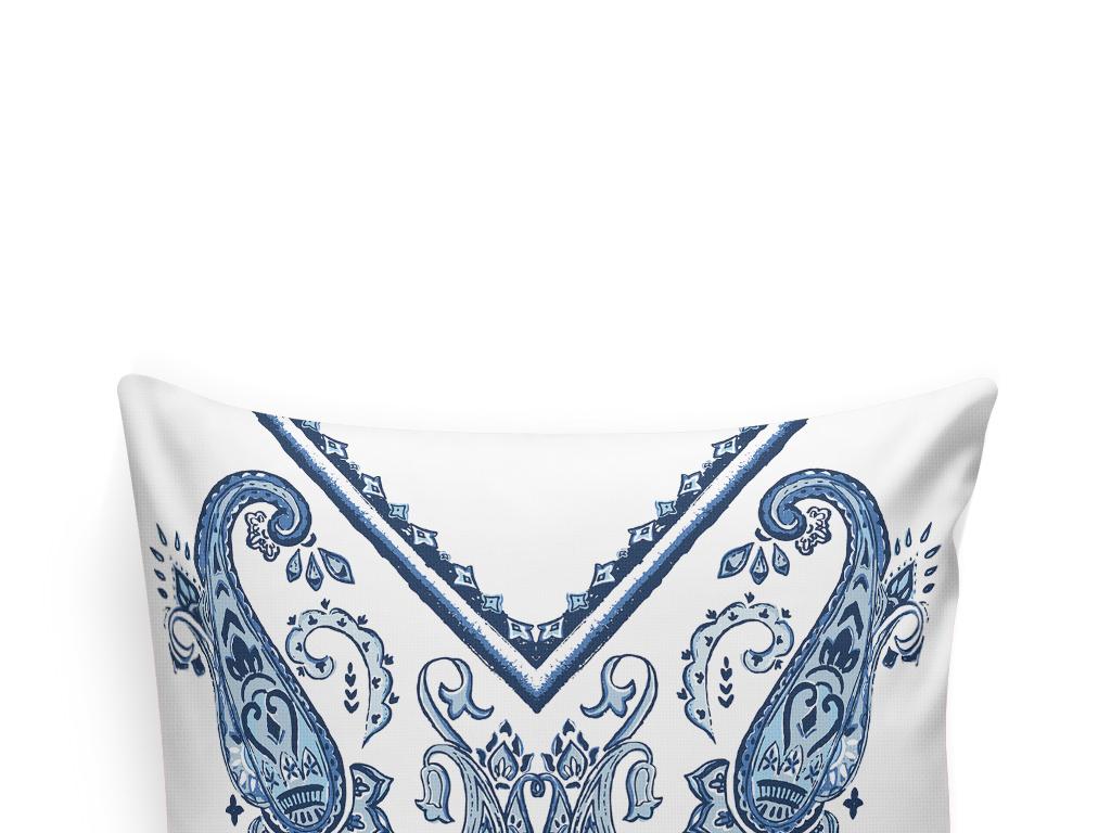 蕾丝抱枕图案欧式花纹