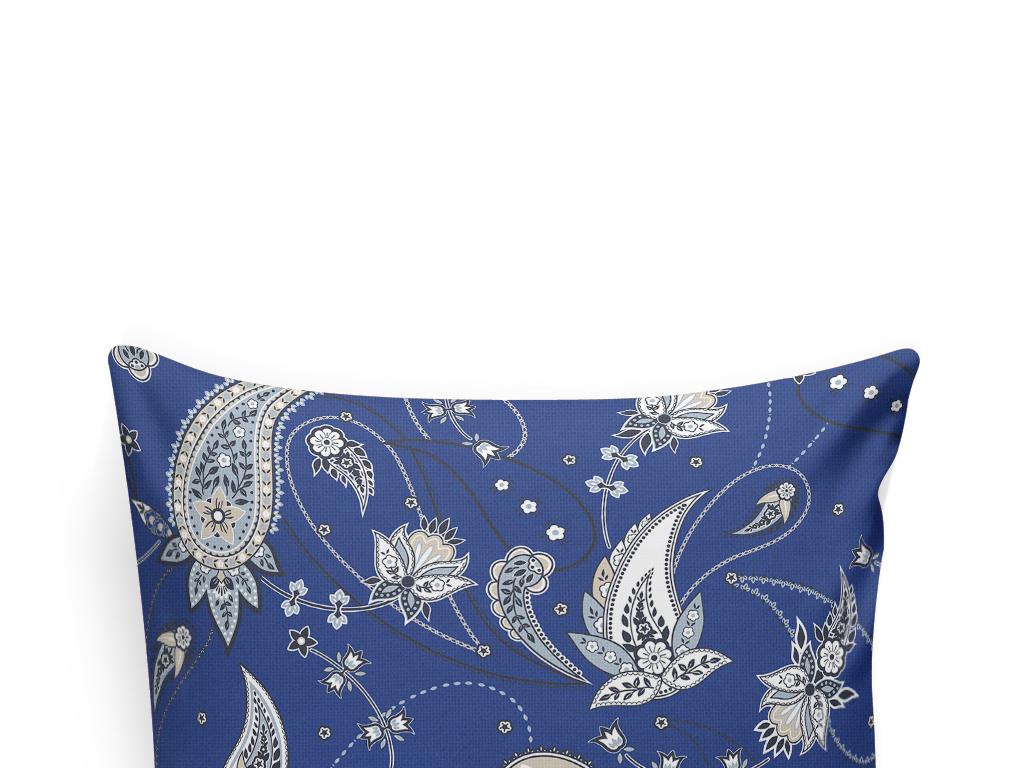 欧式花纹抱枕图案