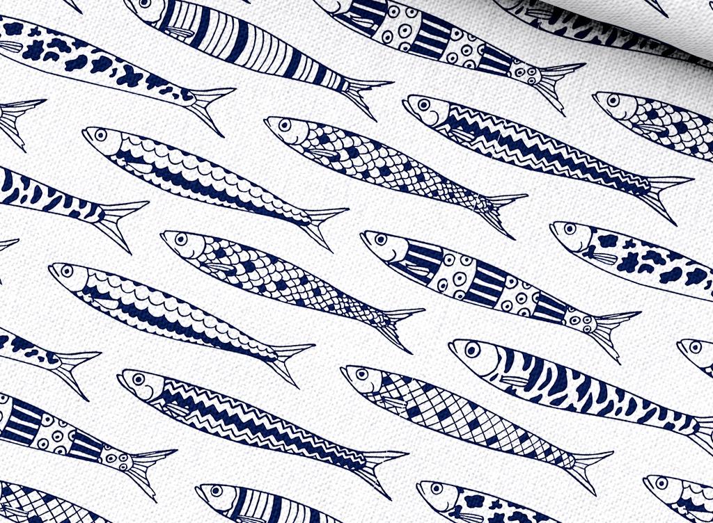 北欧风抱枕图案卡通鱼类图片