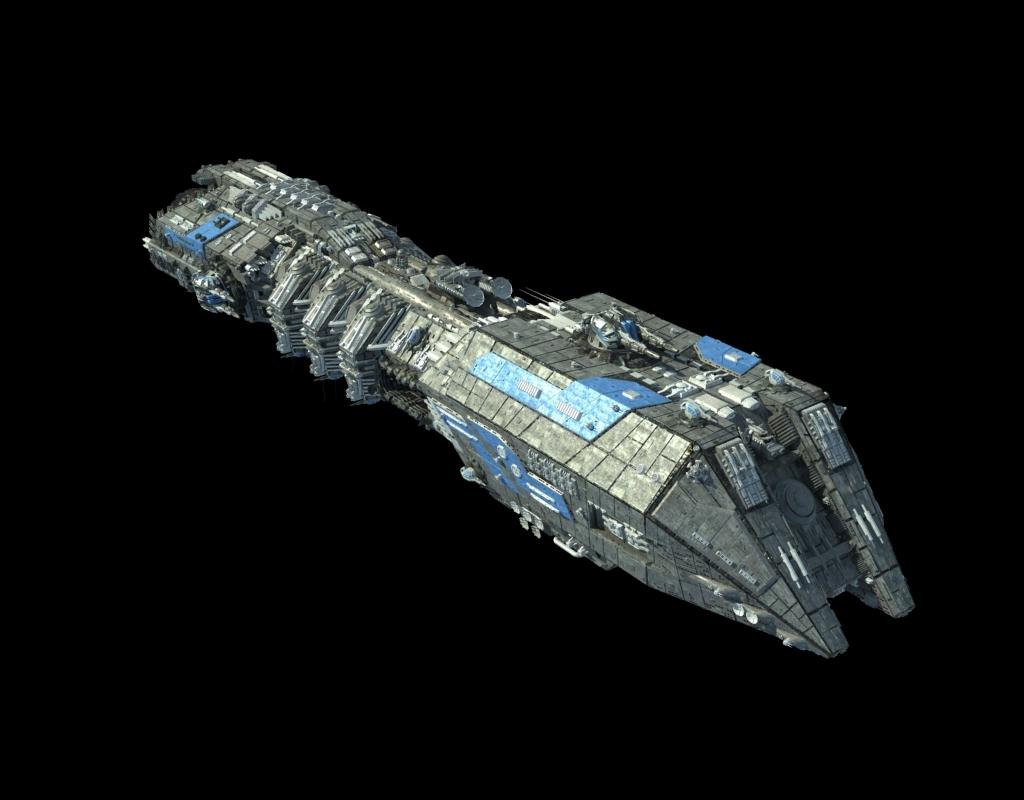 高精度太空战舰飞船3d模型