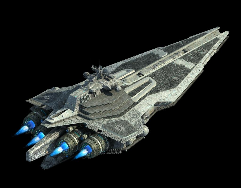 高精度太空战舰飞船3d模型01