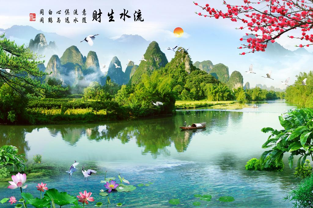 荷花桂林大自然山水风景图片山水风景图片大全世界山水风景图片桂林