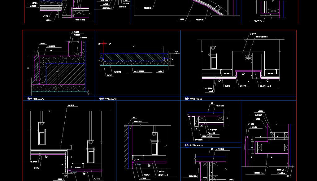 三套CAD室内设计KTV设计图