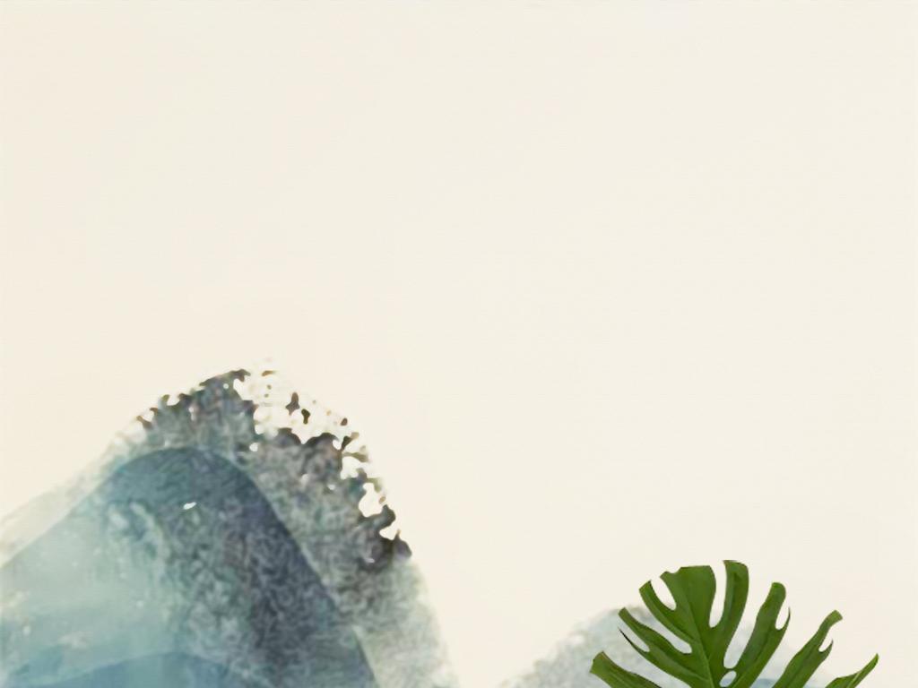 新中式手绘水墨山水禅意壁画文艺玄关背景墙