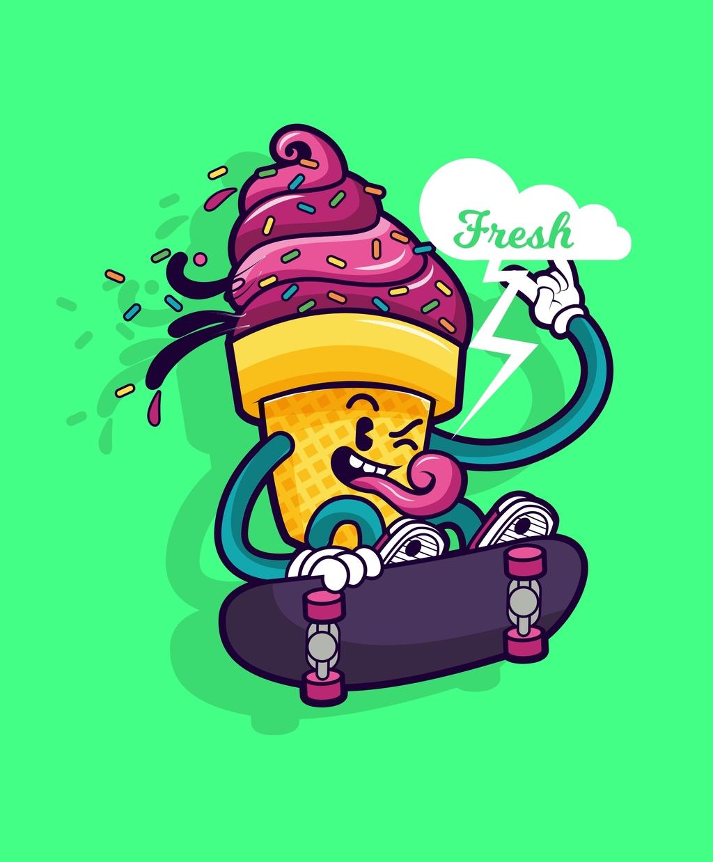 卡通图案冰淇淋甜品图片设计素材 高清其他模板下载 1.15MB 1511552