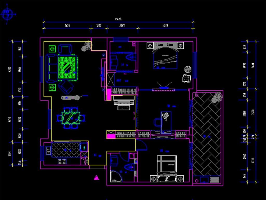 某室内装修装饰cad设计图平面图下载(图片1.88mb)_cad