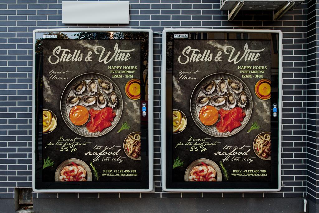 平面|广告设计 海报设计 国外创意海报 > 海鲜餐厅美味海鲜促销活动