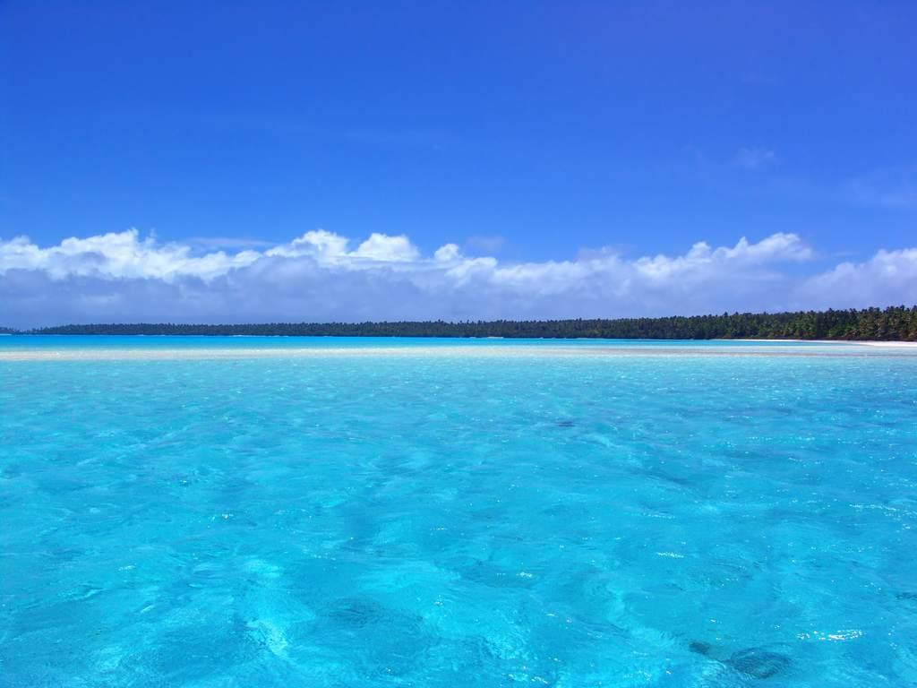 海边海洋海面风景唯美海边大海天际线风景蓝天白云