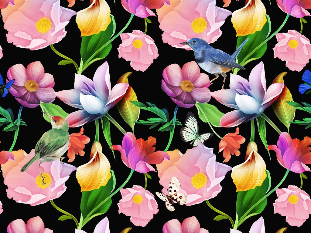 水彩花卉热带风情                                  热带植物叶子
