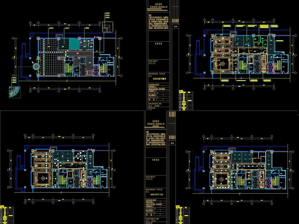 室内设计cad图库 工装施工cad图纸 > 写字楼全套竣工图水电系统cad