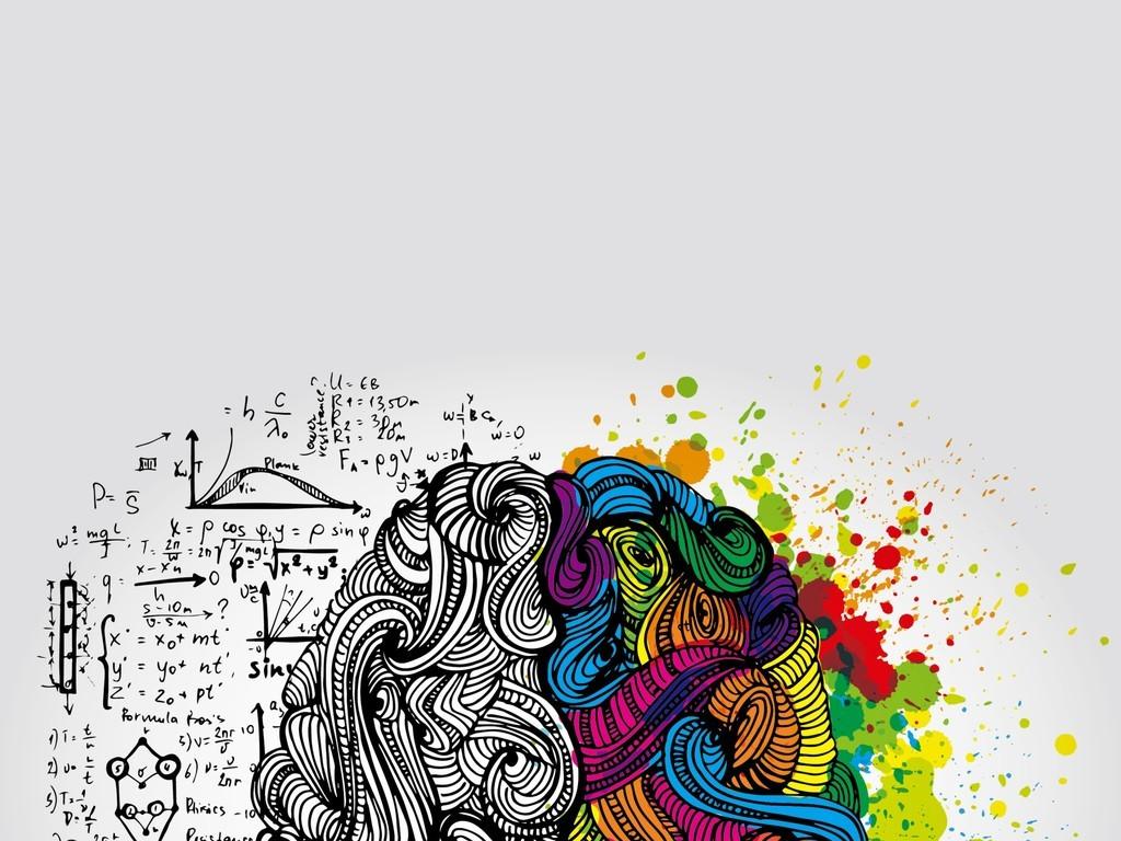 人物大脑插画素材