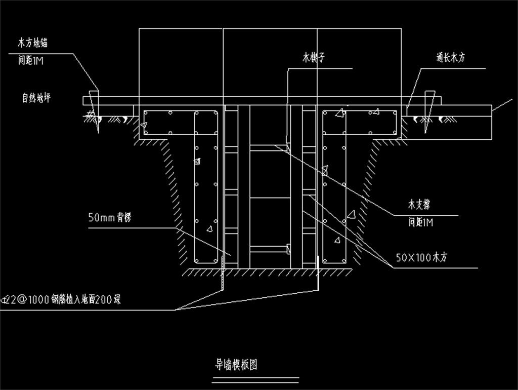 cad图库 室内设计cad图库 cad图纸 > 导墙模板cad设计图  版权图片