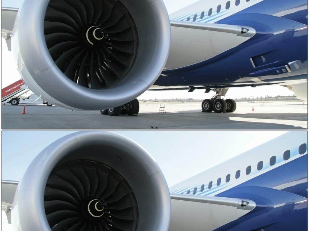 机场飞机螺旋桨