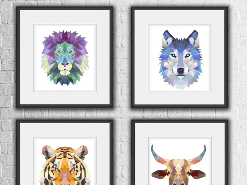 唯美抽象动物装饰画