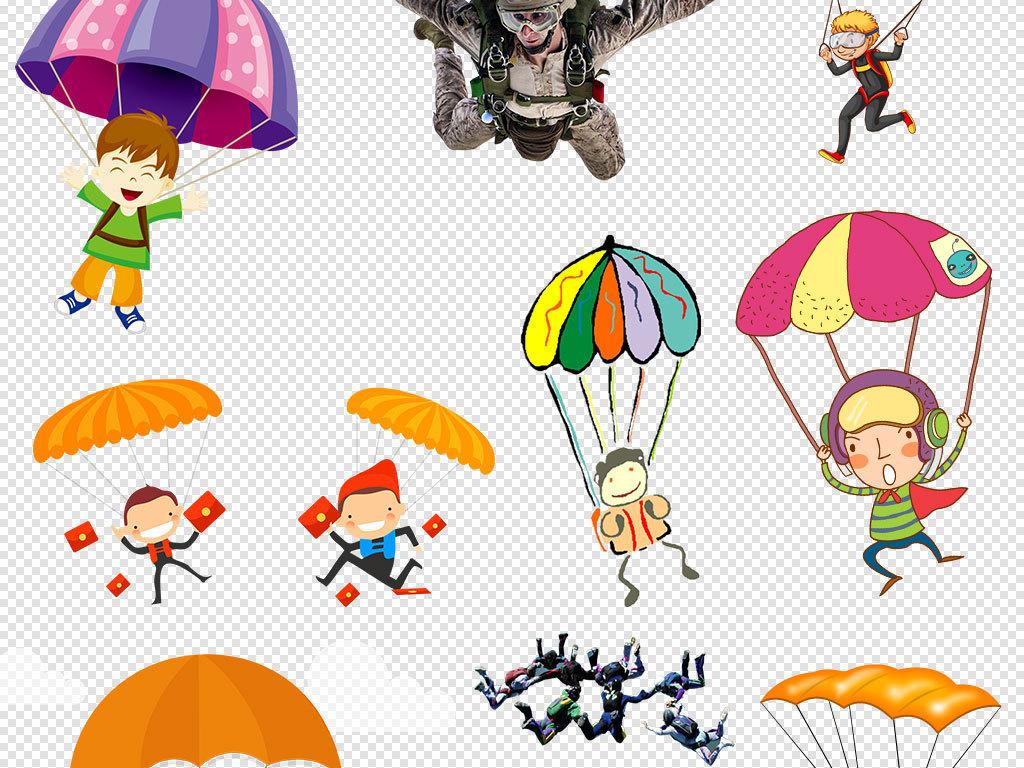 天空                                  跳伞飞机降落