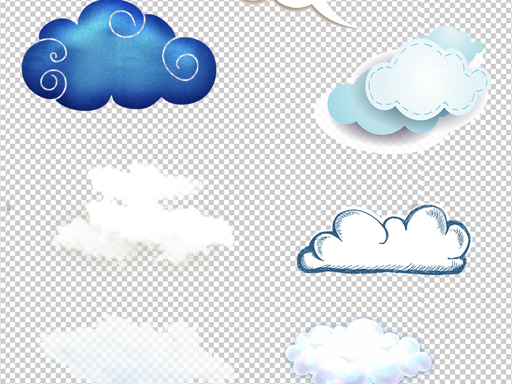 云朵图片                                  手绘云朵