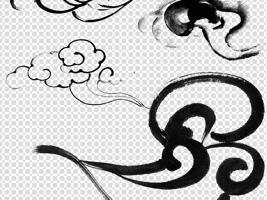 矢量图花边花纹花纹中国古典素材云纹中国元素中国传统水墨素材古典云