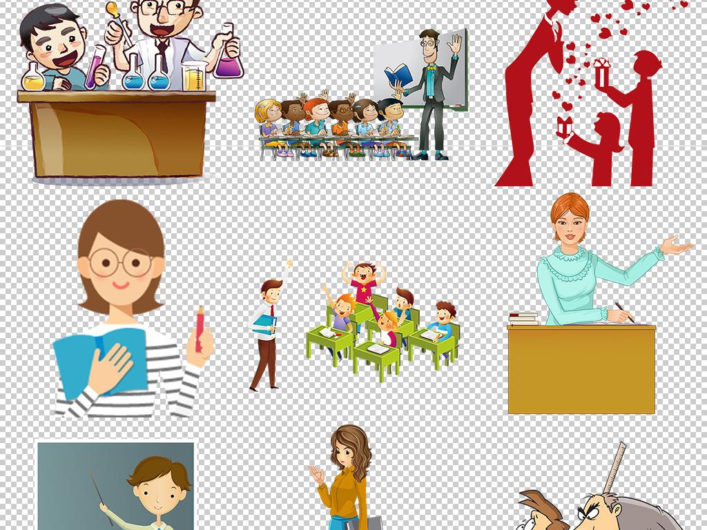 设计元素 人物形象 动漫人物 > 教师节学校卡通教师学生上课教学图片