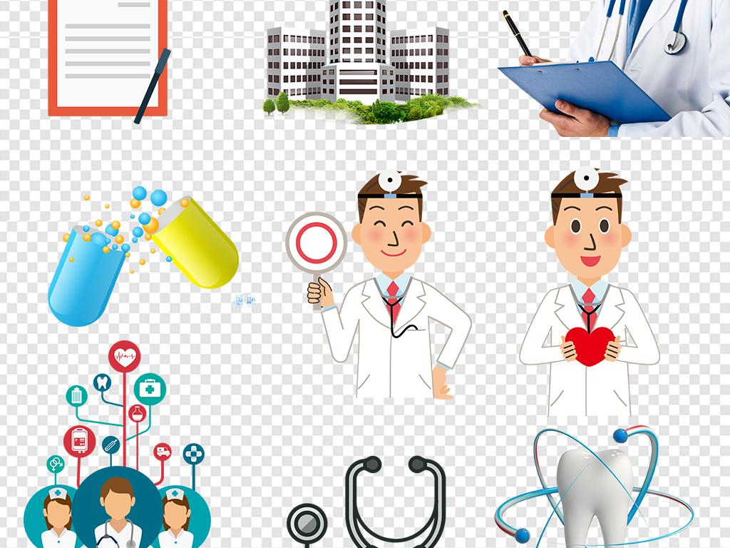 设计元素 背景素材 其他 > 卡通护士医生医院医疗健康图片素材  版权