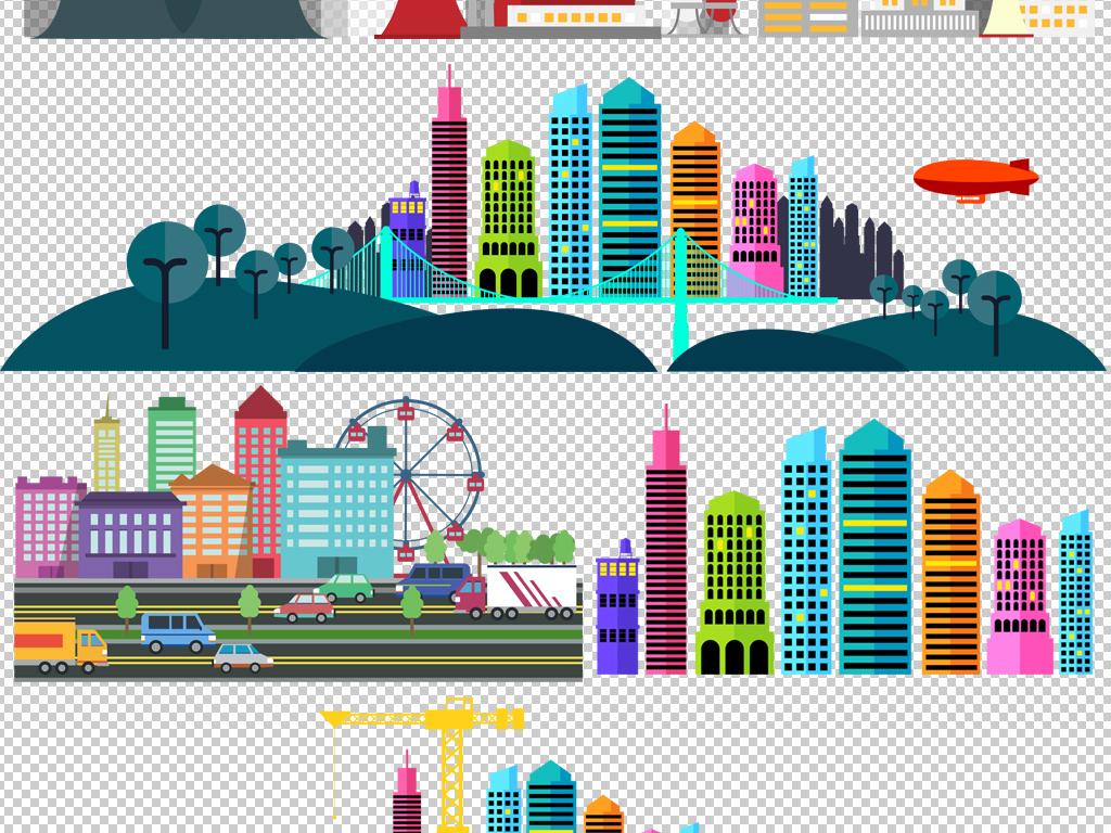 环保旅游海报                                  卡通建筑卡通城市
