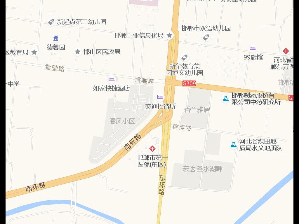 邯郸地图_邯郸交通地图查询,导航_邯郸市电子地图全图
