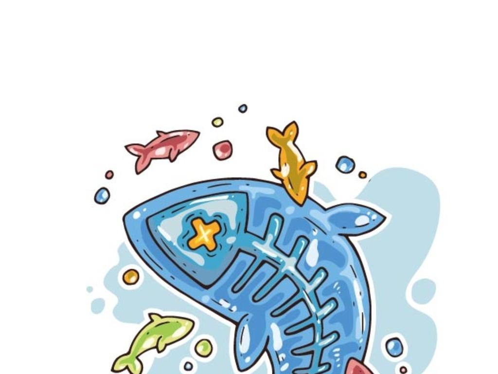 海洋产品手绘图