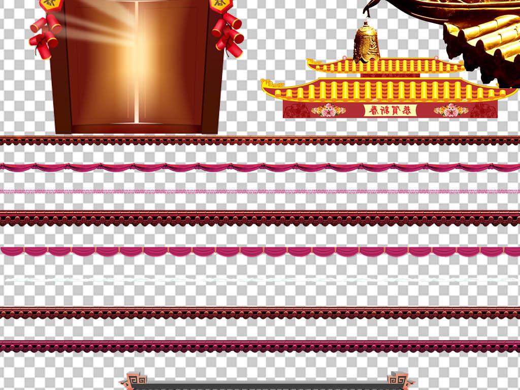 中式建筑建筑中国画灯笼黑色真实寺庙瓦片设计元素广告设计屋檐图片