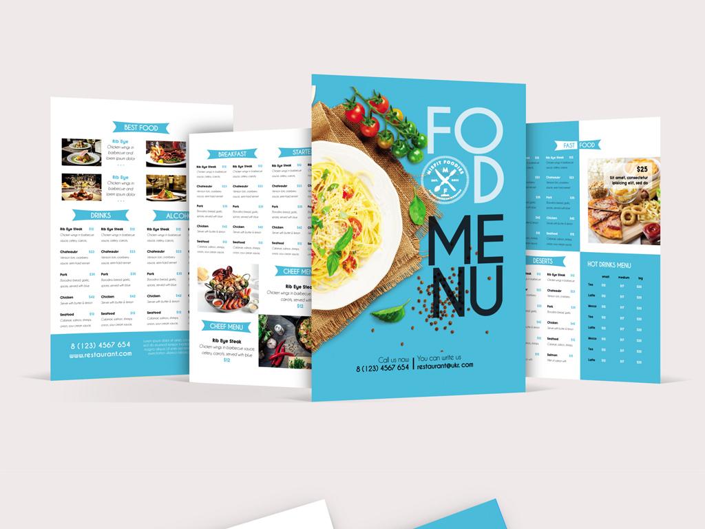 平面|广告设计 画册设计 菜单|菜谱设计 > 2psd时尚清新文艺海蓝色,西图片