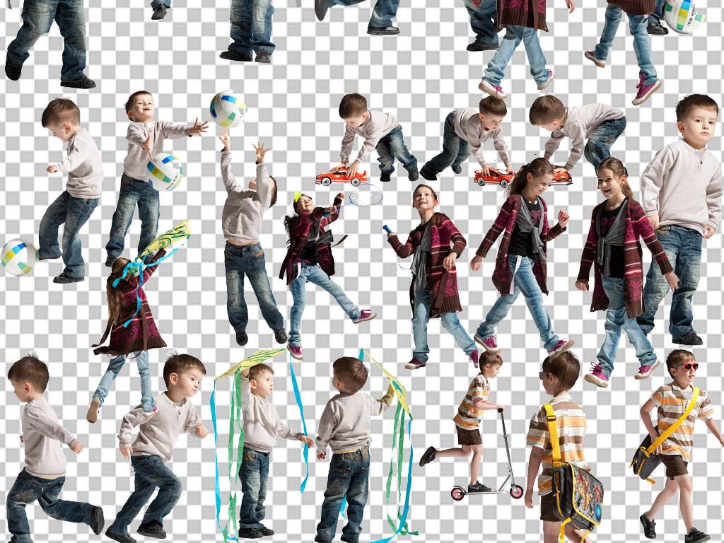 校园运动会儿童运动png免扣小孩