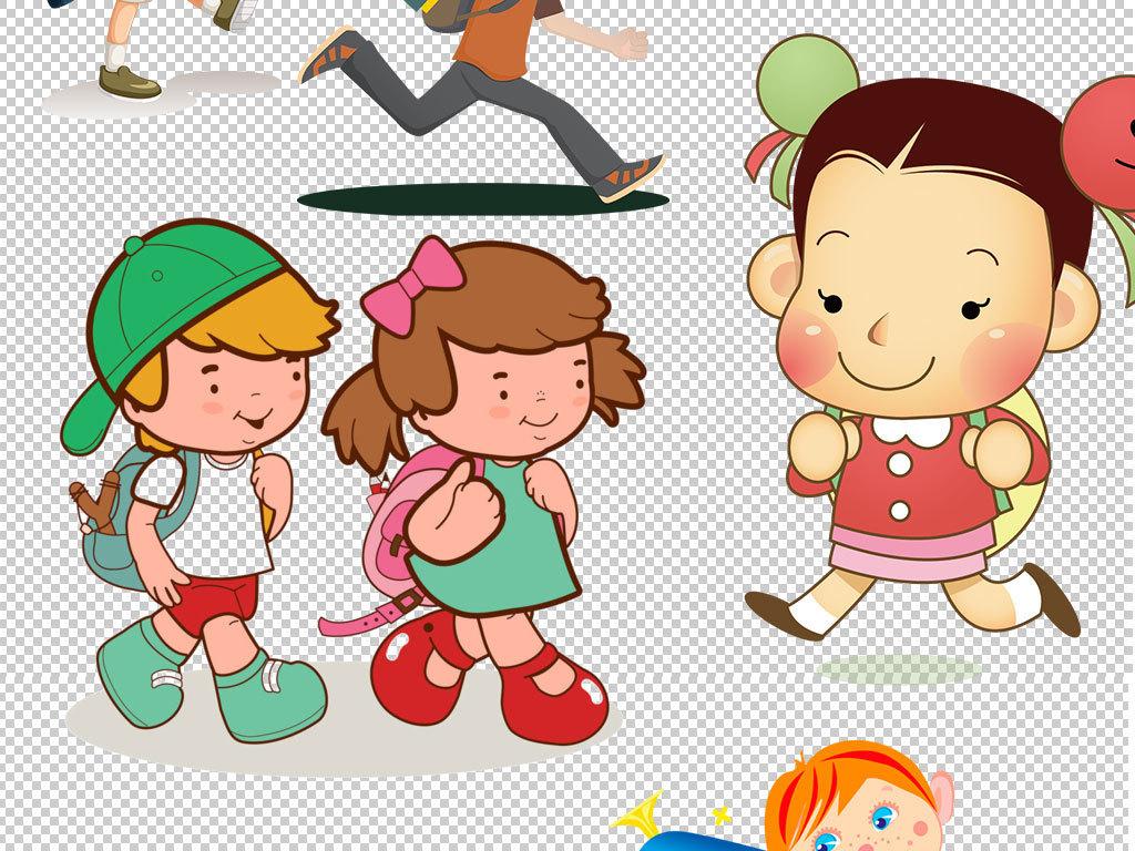 卡通儿童小孩学生幼儿图片素材