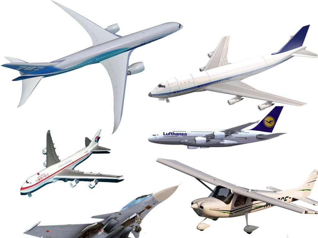 卡通飞机喷气机客机飞机模型