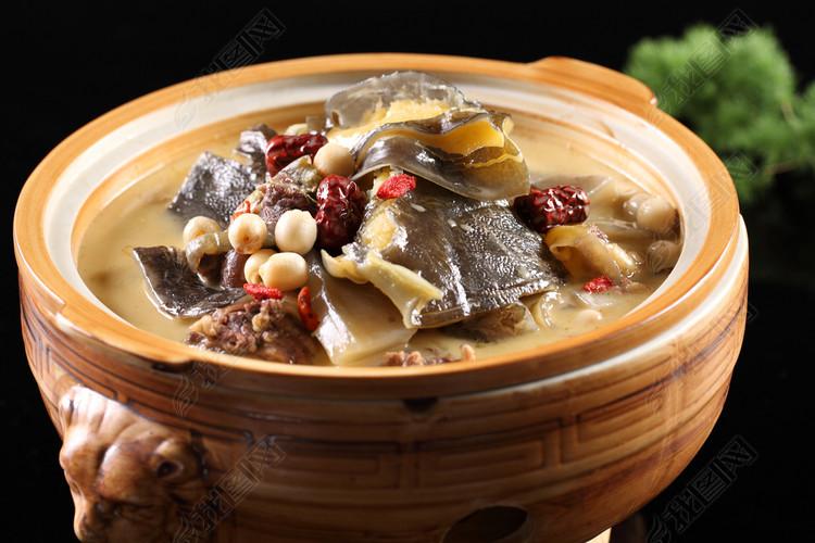 中华美食养生浓汤野生甲鱼