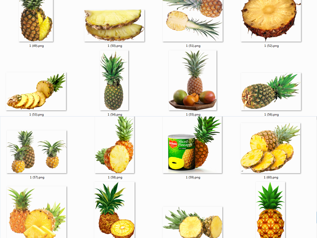 夏日热带水果菠萝png免抠海报设计素材