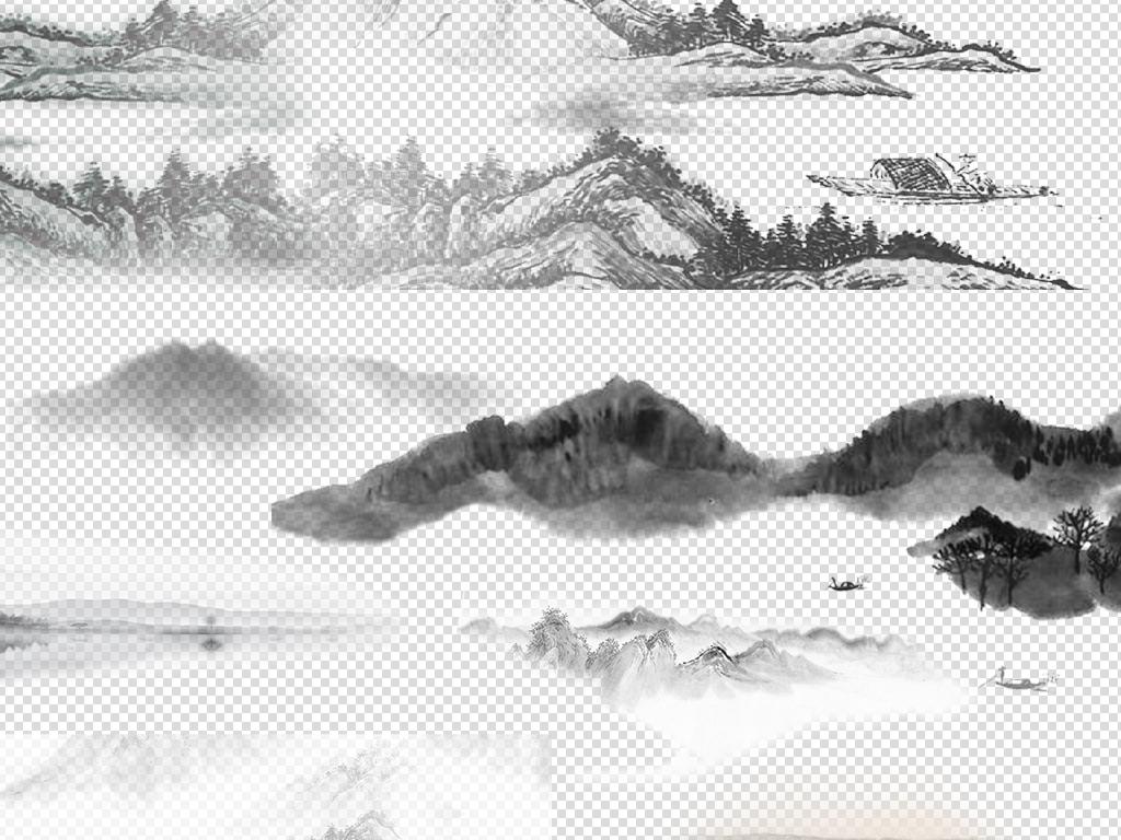 50款中国风山水水墨海报素材图片下载png素材 其他