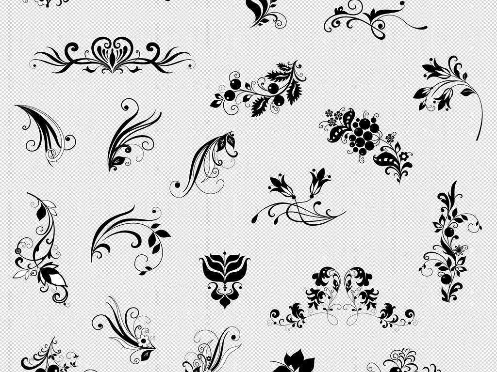 欧式花纹花边边框免抠psd矢量素材下载,作品模板源文件可以编辑替换图片