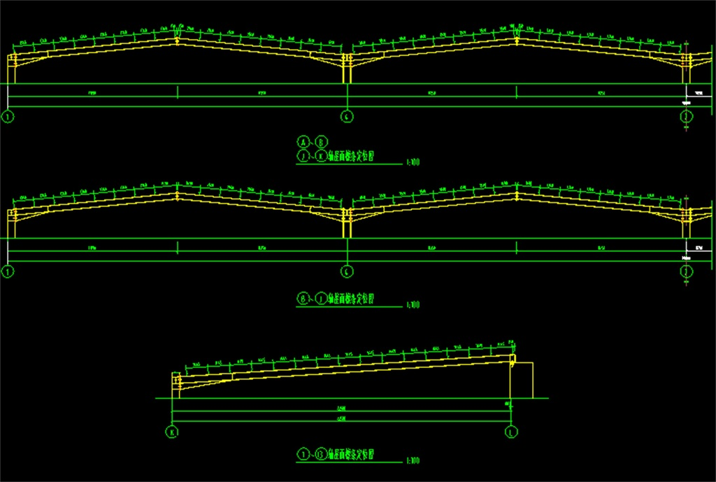 钢结构厂房cad设计图