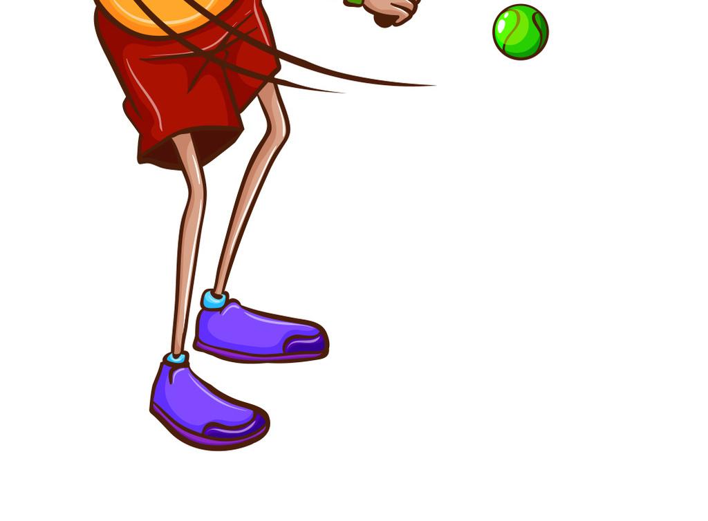 设计作品简介: 运动少年户外打网球 矢量图, cmyk格式高清大图,使用
