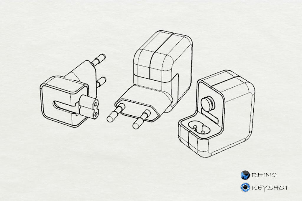 苹果手机充电器犀牛模型+ks渲染
