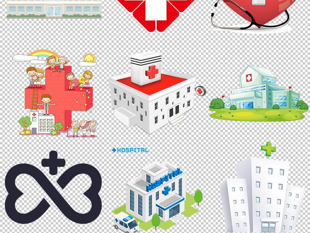 设计作品简介: 卡通医疗医院图标logo标志装饰图案 位图, rgb格式高清