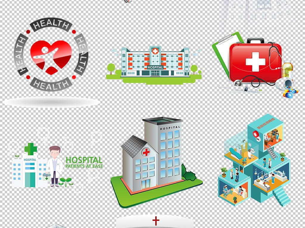 卡通医疗医院图标logo标志装饰图案
