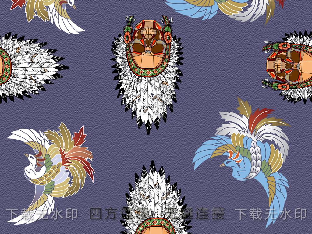 女装图案花型图案蝴蝶图案南非面具女装家纺图案地毯图案手绘