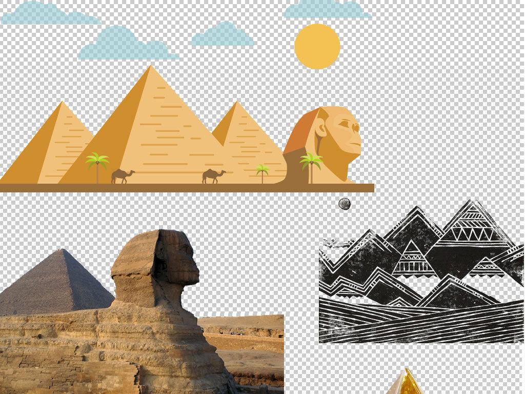 金字塔沙漠免扣png海报素材