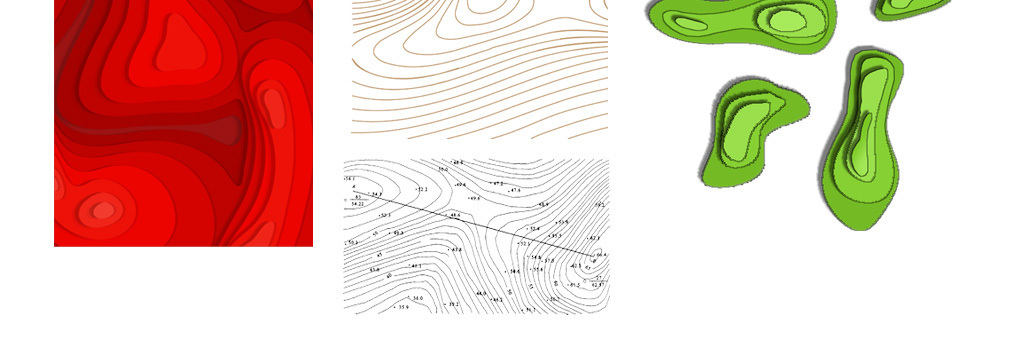 背景 广告背景 几何/扁平 > 卡通手绘等高线图形海报png素材  素材