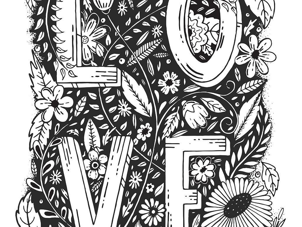 手绘创意浪漫字体设计图片素材_ai模板下载(41.54mb)