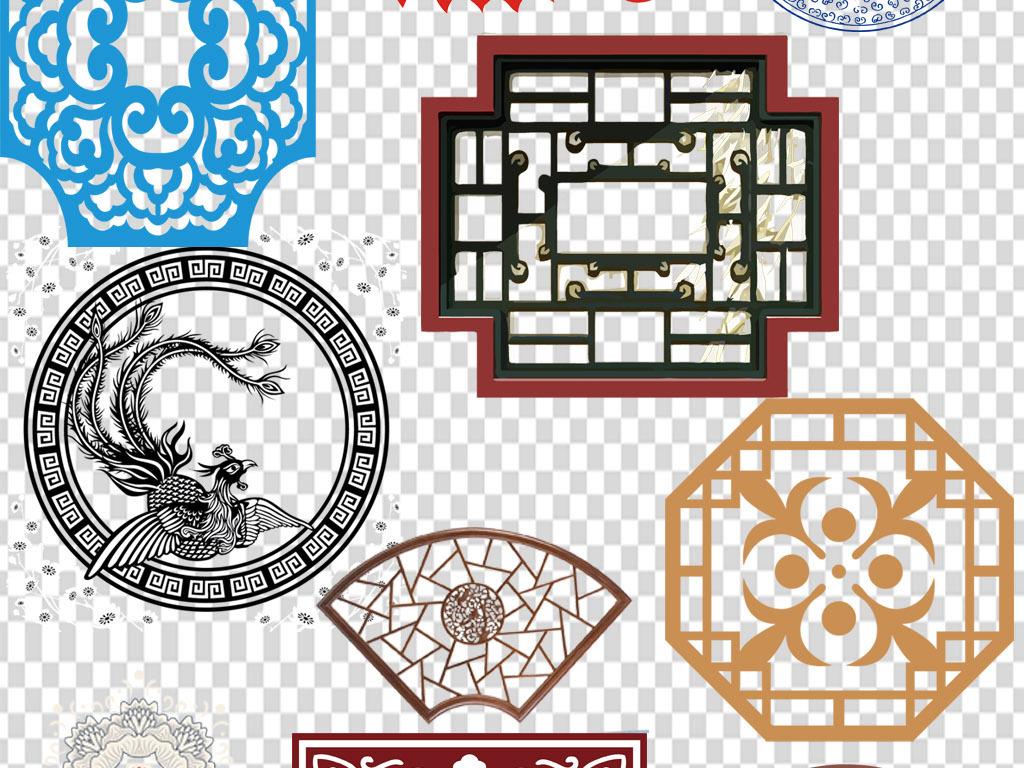png)中式窗花图案中式木窗花格