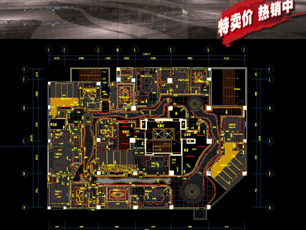 酒吧ktv全套建筑设计图平面图下载(图片74.27mb)_cad