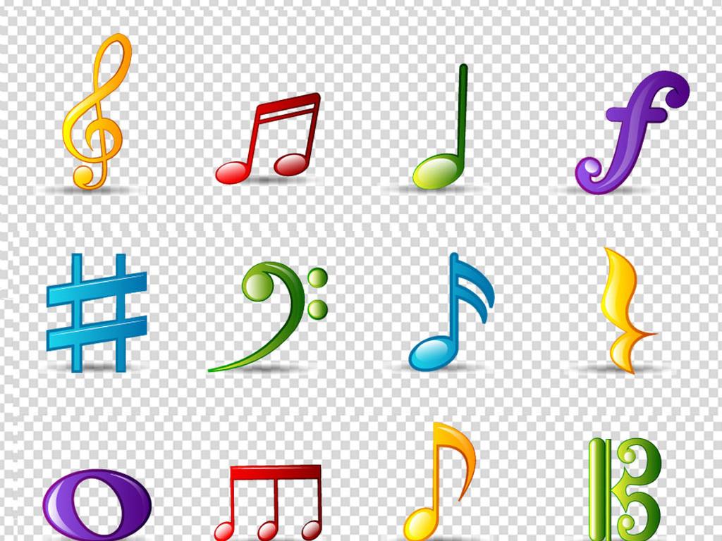 音符钢琴音乐素材音乐元素音乐音符插画乐器韩国插画儿童