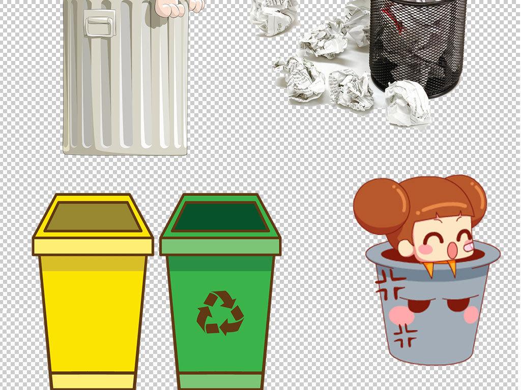 环保垃圾桶回收站图标海报素材
