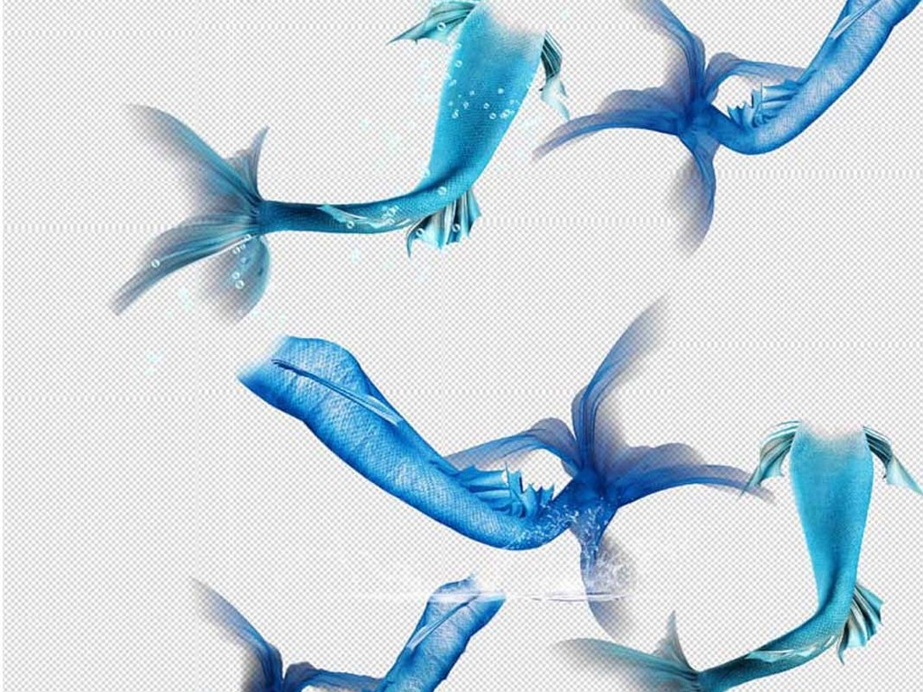 psd)                                  海豚手绘美人鱼